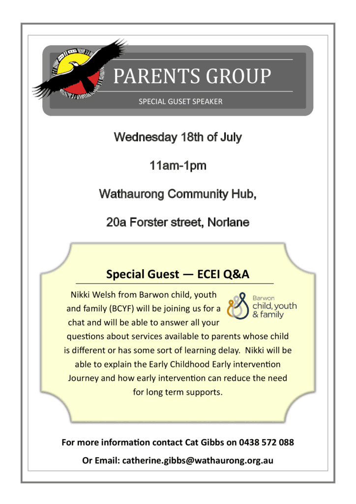 Parents group - early childhood intervention @ Wathaurong Community Hub | Norlane | Victoria | Australia