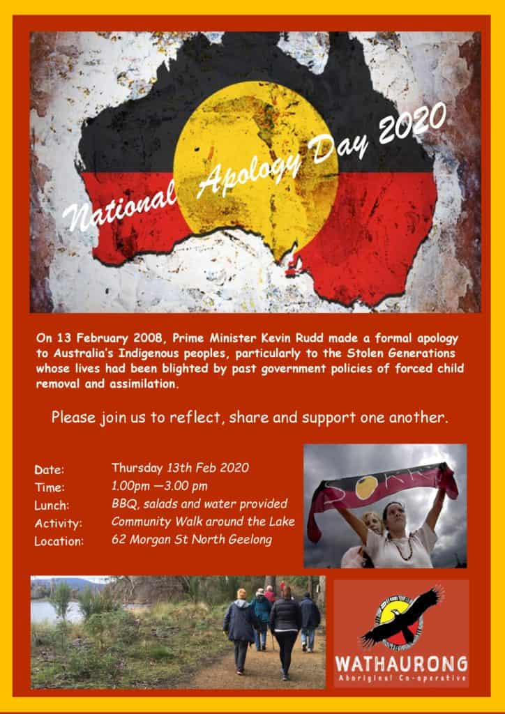 Anniversary of National Apology Event @ Wathaurong Aboriginal Co-operative